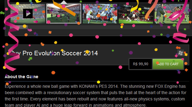 PES 2014 no Steam