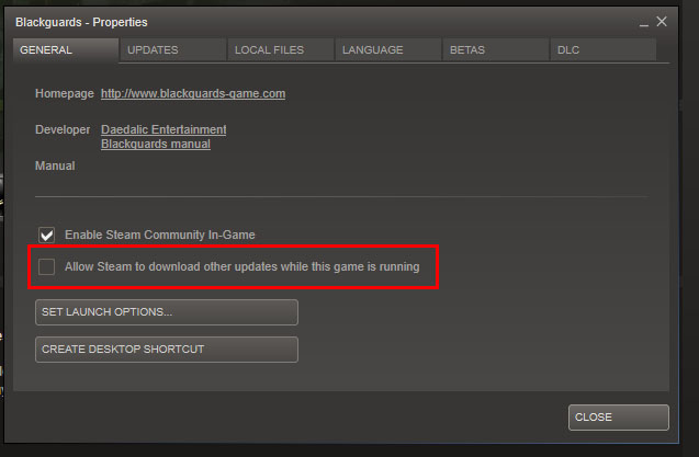 Downloads em segundo plano no Steam