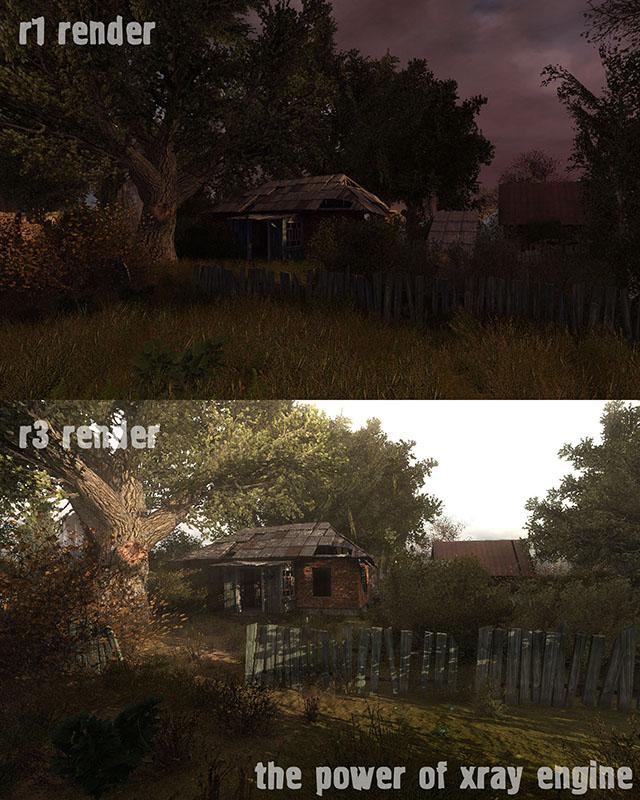 As diferenças entre a velha e a nova iluminação em Stalker Lost Alpha