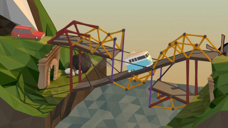 Peculiar construtor de pontes Poly Bridge chega ao Steam Early Access