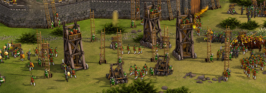 Cerco em mapa de Stronghold: Warlords
